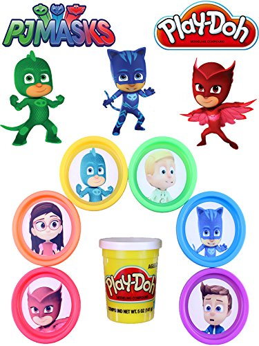 LEARN COLORS With PJ Masks from Disney Jr Play Doh Surprises and Disney Tsum Tsum