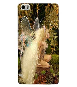 ColourCraft Lovely Angel Design Back Case Cover for XIAOMI MI 5