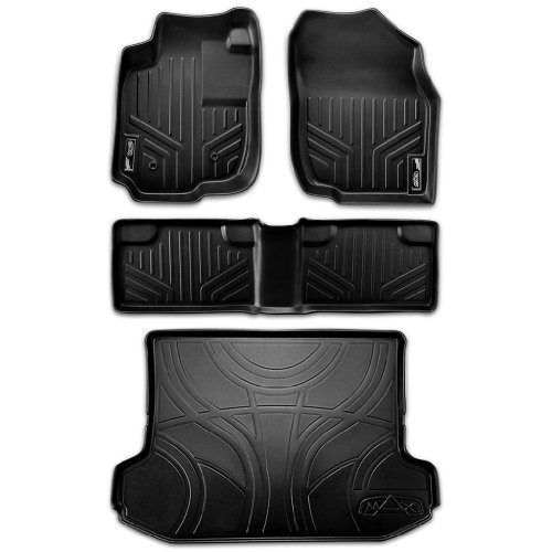GG Bailey BMW Z4 Coupe 2006 2007 2008 Black with Red Edging Driver /& Passenger Floor Mats