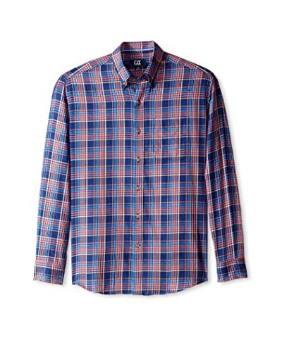 Cutter & Buck Men's Long Sleeve Kenyon Plaid Shirt