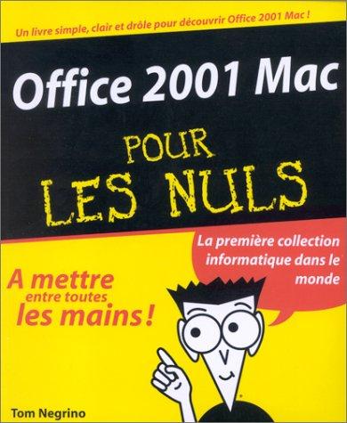 OFFICE 2001 MAC POUR LES NULS