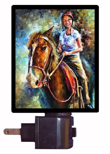 Horse Night Light - My Little Friend - Girl On Horse front-191068