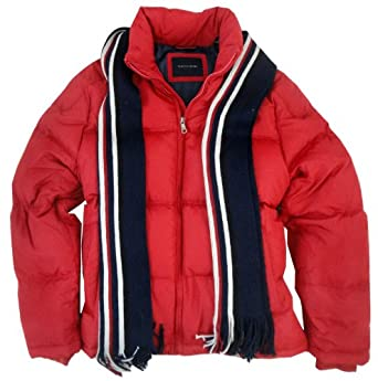 Buy Tommy Hilfiger Down Filled Puffer Jacket, Red by Tommy Hilfiger