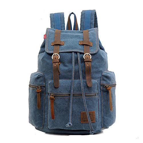 sechunk-unisex-canvas-leather-backpack-blue