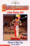 Karen's Big Top (The Baby-Sitters Club Little Sister, No.51) (0590482297) by Martin, Ann M.