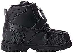 Polo Ralph Lauren Kids Country Mid Zip Boot (Toddler/Little Kid/Big Kid),Black Tumbled/Burnished Leather,6.5 M US Toddler