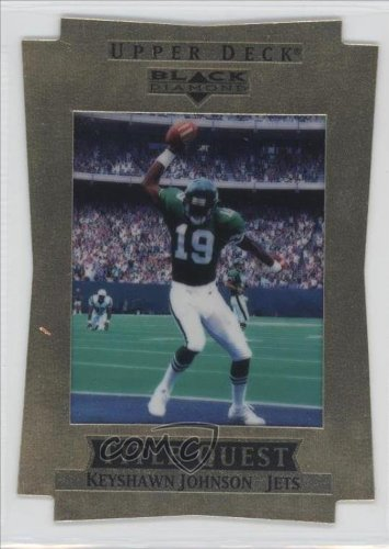 Keyshawn Johnson #84/100 New York Jets (Football Card) 1997 Upper Deck Black Diamond [???] #Tq20