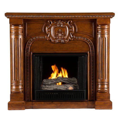 SEI AMZ3769G Romano Gel Fuel Fireplace, Salem Antique Oak (Gel Fireplace Oak compare prices)