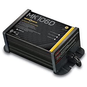 MinnKota MK 106D On-Board Battery Charger (1 Bank, 6 Amps) by Johnson Outdoors