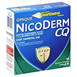 NicoDerm CQ Stop Smoking Aid, Step 1, Opaque Patches, 2-Week Kit 14 patches