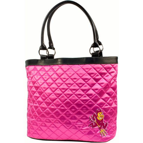 NCAA Arizona State University Pink Quilted Tote