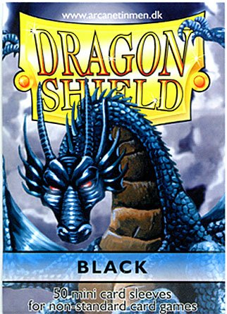 Dragon Shield Card Supplies YUGIOH Card Sleeves Black 50 Count