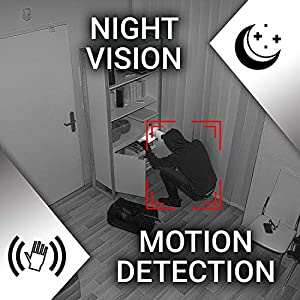 Hidden Spy Camera 1080P Mini Security Wireless cam with Night Vision, Video Recorder for Nanny/Housekeeper, Sports Action Cam with Motion Detection for Home, Car, Drone, Office and Outdoor Use (Color: Black, Tamaño: Mini)