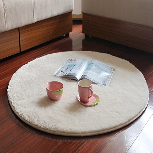 E.a@market Fashion Soft Carpet Circle the Computer Chair Cushion (Beige)