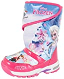 Disney Frozen Elsa Anna Story Girl's Light Up Winter Warm Snow Boots Shoes (Toddler/Youth)