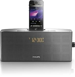 Philips AJ7245D Radio/Radio-réveil MP3 avec station d'accueil pour iPhone et iPod (Import Allemagne)