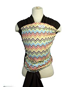 Snuggy Baby Wrap- Rainbow Chevron
