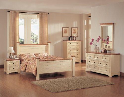 Buttermilk Pine Queen Size Bedroom Furniture Set