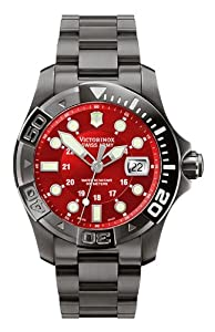 Victorinox Swiss Army Men's 241430 Dive Master 500 Black Ice Red Dial Watch