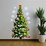 Decorie Christmas Tree Snowflakes Window Wall Stickers for Home Decor 82*45CM