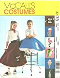 Childrens/Girls Poodle Skirt, Petticoat And Appliques McCall's Costume Sewing Pattern 4173 (Size: 3-6)