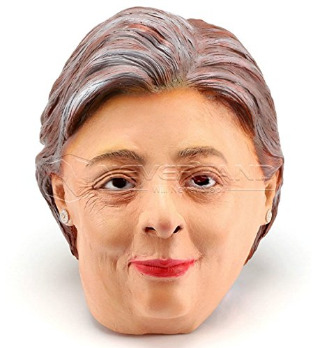 [For Hillary Clinton Mask Political Senator Fancy Dress Halloween Costume New] (Political Couple Costumes)