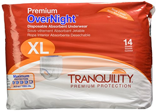 Tranquility Premium OverNight Pull-On Diapers, X-Large, Pack/14