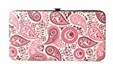 Chicastic Pink Paisley Print Flat Hard Clutch Wallet