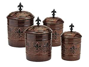 4 piece versailles canister set with fresh for Naaptol kitchen set 70 pieces