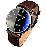 Bocideal® Fashion Luxury Mens Faux Leather Analog Watch Watches