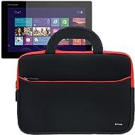 Evecase Ultraportable Dual Pocket Handle Carrying Neoprene Case for Lenovo ThinkPad Helix / Lenovo IdeaTab Lynx...