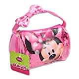 Disney MINNIE MOUSE SEQUINS Mini HAND BAG W/BOW ON HANDLE