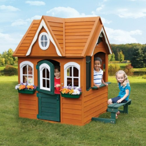 Play House. This Kids Playhouse Will Bring So Much Joy. These Cedar Wood Childrens Playhouses Are Exquisite! If You Are Looking For Outdoor Play Houses, Play Fort, Play Equipment Or Playground Equipment For Your Children This Is It. A Cottage Look.