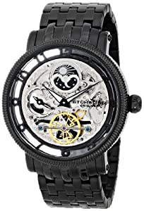 Stuhrling Original Men's 8411.335B1 Symphony Symphony DT Analog Display Automatic Self Wind Black Watch
