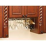 Rev-A-Shelf - 3450-11ORB - 11 in. Oil Rubbed Bronze Under Cabinet Quad Wine Glass Holder