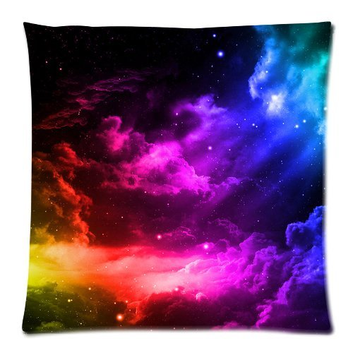 Generic Starry Sky Zippered Pillowcase 18-inch By 18-inch (Twin Sides) generic