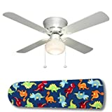 New Image Concepts 3014 42 in. Ceiling Fan with Lamp - Dinosaur Delight