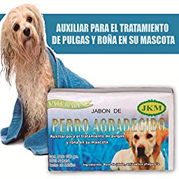 Jabon Perro Agradecido Auxiliary for the Treatment of Fleas and Mange Natural Dog Soap\'s