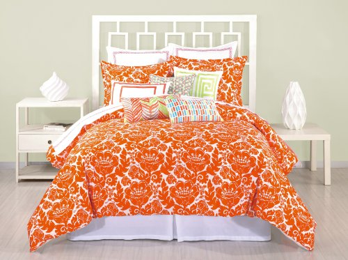 Trina Turk 3-Piece Louis Nui Duvet Set, Queen, Coral back-654847
