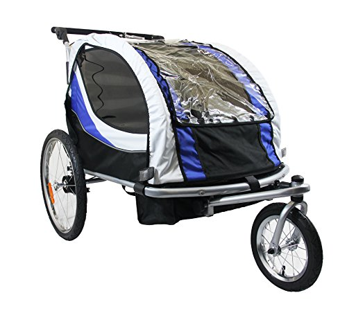 Best Price! Clevr New Deluxe Child Bicycle Trailer Baby Bike Kid Jogger Blue Running Carrier