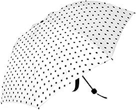 Fashion Black and White Girly Polka Dots Cheap Compact Parasol Umbrella Folding Travel Umbrella