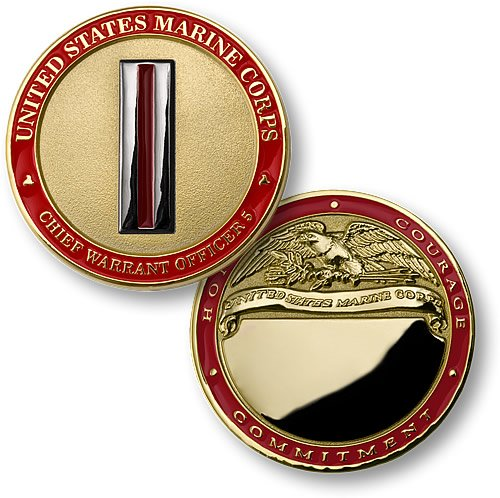 U.S. Marines Chief Warrant Officer 5 Engravable Challenge Coin