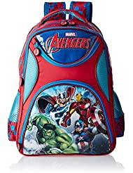 Avengers Polyester 16 Inch Blue And Red Children's Backpack (MBE-WDP0497)