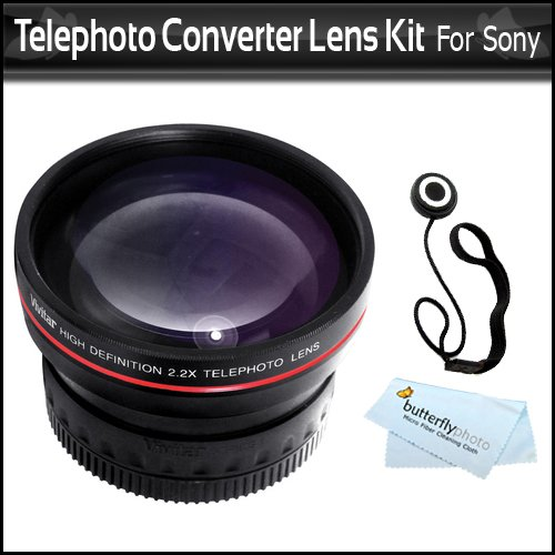 2X High Definition 37Mm Telephoto Converter Lens Includes Pouch For Lens + Lens Cap Keeper + Microfiber Cloth For Sony Hdr-Cx550V, Hdr-Hc9, Hdr-Xr550V, Hvr-Hd1000U, Hvr-A1U, Hxr-Mc2000U, Hxr-Mc50U Handycam Camcorder