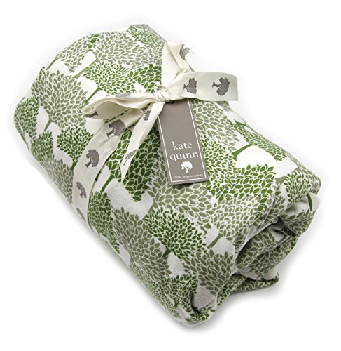 Kate Quinn Organic Fitted Crib Sheet, Onesize (Evergreen Forest)
