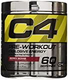 Cellucor C4 Pre Workout Supplements with Creatine, Nitric Oxide, Beta Alanine and Energy, 60 Servings, Berry Bomb