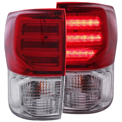 Anzo Usa 311204 Red/Clear Led Tail Light For Toyota Tundra