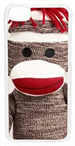 CellPowerCasesTM Sock Monkey Case for iPhone 5c (Clear Case)