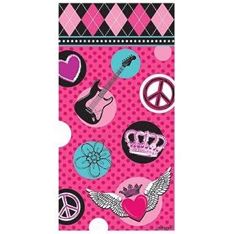 Rocker Princess Paper Treat Bags (8) Party Supplies
