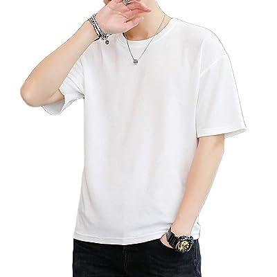 2019夏服 メンズ Tシャツ 五分袖 カジュアル 無地 柔らかい おしゃれ 軽い 半袖 Tシャツ メンズ